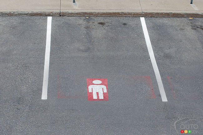 men parking spaces