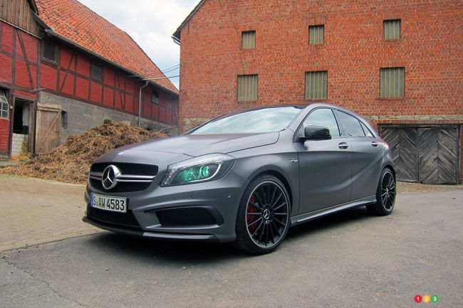 2014 Mercedes Benz A 45 AMG 4MATIC 3/4 view