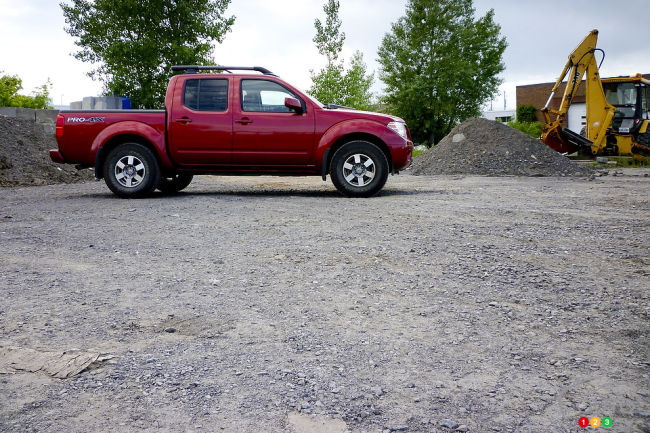 2012 Nissan Frontier side view