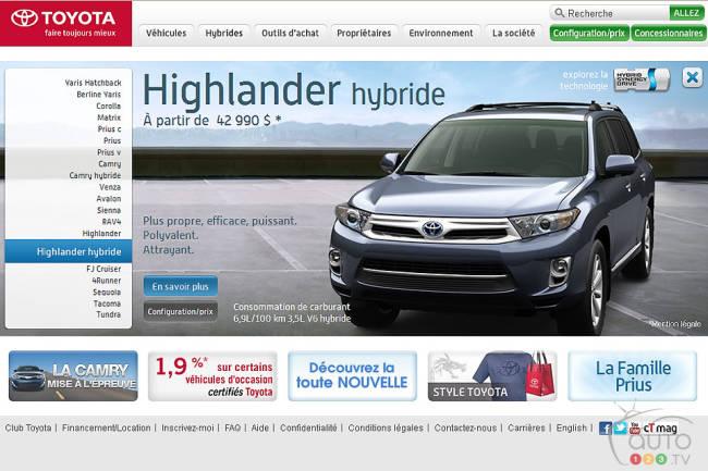 Site de Toyota Canada