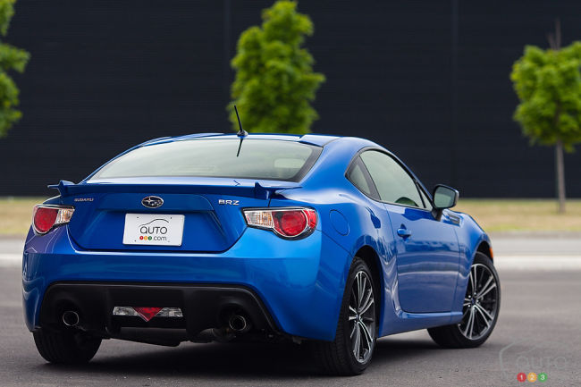 2013 Subaru BRZ Sport-Tech rear 3/4 view