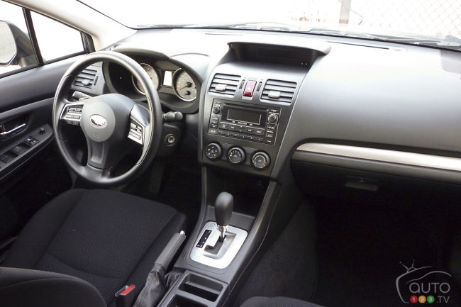2012 Subaru Impreza Touring 4-door dashboard