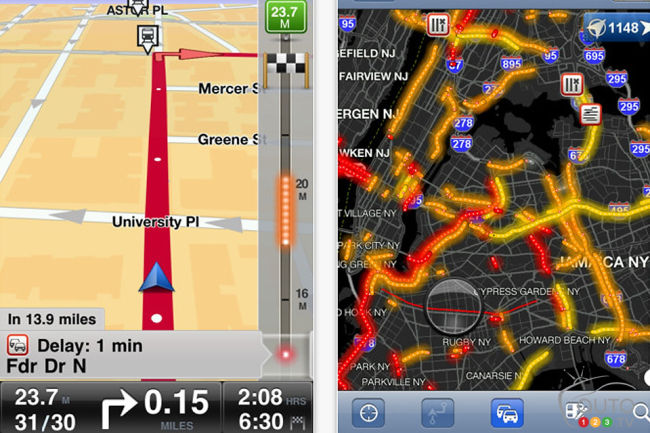 TomTom Navigation app for iPhone (version 1.10)
