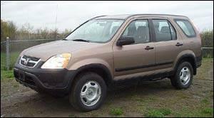 honda 2003 crv tire size