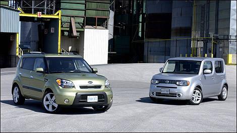 Head To Head: Nissan Cube Vs. Kia Soul (video)
