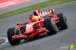 F1: Valentino Rossi and Felipe Massa drive Ferrari F2008 car in Barcelona (+photos)