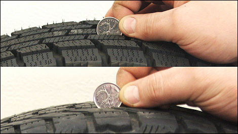 mesurer la d gradation d 39 un pneu d 39 hiver actualit s. Black Bedroom Furniture Sets. Home Design Ideas
