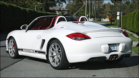 2011 porsche boxster spyder review editor 39 s review car news auto123. Black Bedroom Furniture Sets. Home Design Ideas