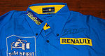 Jacques Villeneuve signed Renault crew shirt to raise money for Make-a-Wish