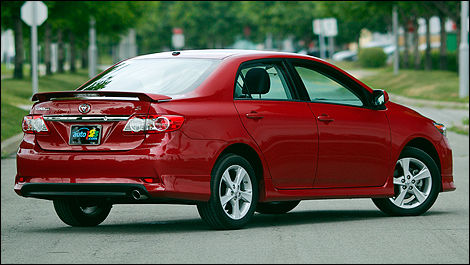 2012 Toyota Corolla S Rear 3/4 View
