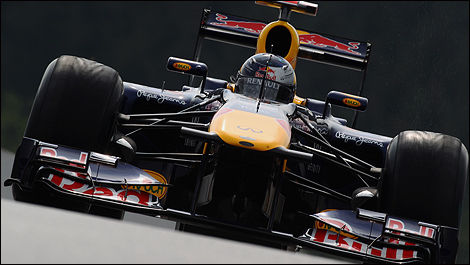 The Red Bull-Renault of Sebastian Vettel at Spa. (Photo: Red Bull)