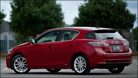 2011 Lexus CT 200h Rear 3/4 View