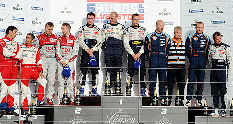 6 Hours of Silverstone, podium (Photo: Peugeot Sports)