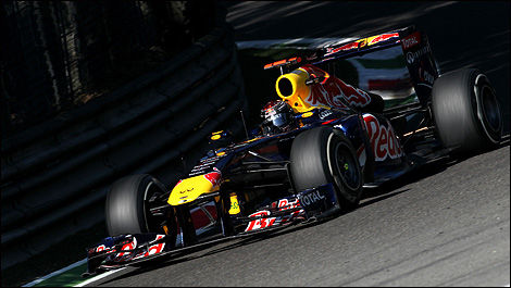 Sebastian Vettel, Red Bull, à Monza. (Photo: WRi2)