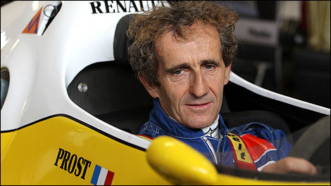 Alain Prost à bord de la Renault RE40 de 1983. (Photo: WRI2)