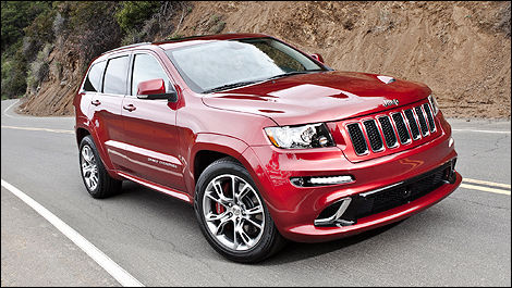 Jeep Grand Cherokee SRT8 2012 vue 3/4 avant