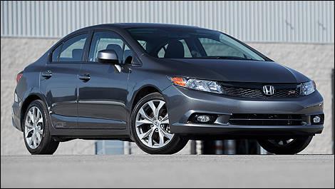 Great 2012 Honda Civic Si Sedan Vue 3/4 Avant