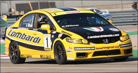 Nick Wittmer au volant de sa Lombardi Honda Civic (Photo: Touringcar.ca)