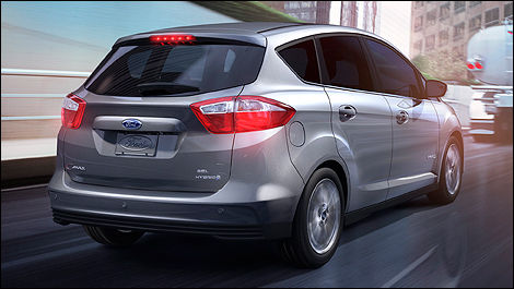 2013 Ford C-MAX Hybrid rear 3/4 view