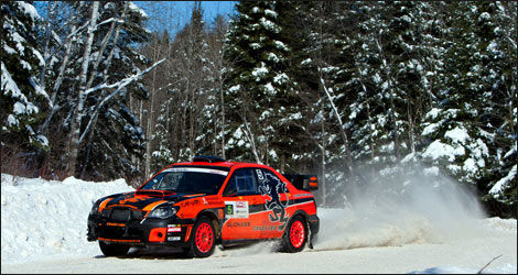 Crazy Leo et sa Subaru orange (Photo: Andrew Harvey Photography/CRC)