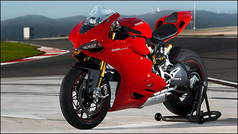 2012 Ducati 1199 Panigale front 3/4 view