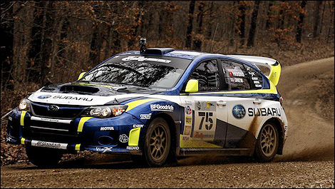 Dave Higgins et Craig Drew ont pris la seconde position de L'Estage-Richard (Photo: Matthew Young/WorldRallySport)