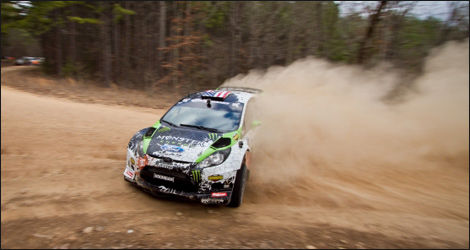 Ken Block et sa Ford Fiesta 2012 (Photo: Monster World Rally Team)
