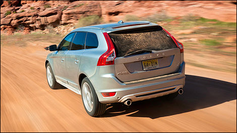 2012 Volvo XC60 T6 AWD R-Design rear 3/4 view