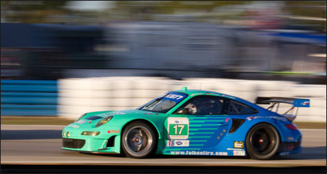 La Porsche 911 GT3 de Falken Tire (Photo: ALMS.com)