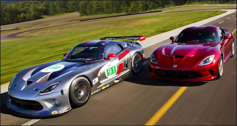 Dodge's new Viper GTS-R - competition and street versions (Photo: ALMS.com)