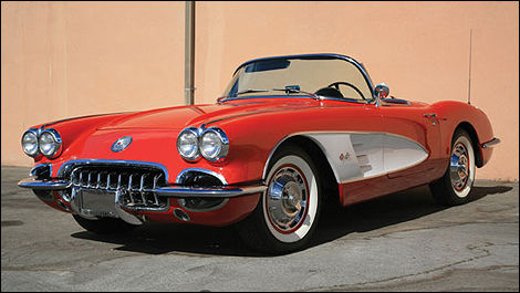 Chevrolet Corvette 1960, couleur fiesta red
