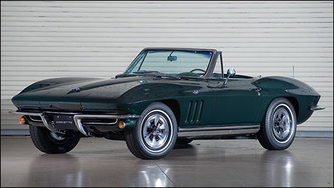 Chevrolet Corvette 327-300 Roadster 1965, couleur sherwood green