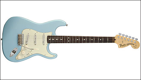 Fender Stratocaster, couleur sonic blue