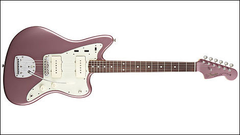 Fender Jaguar, couleur burgundy mist metalli