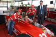 Jacques Villeneuve pilote la Ferrari 312 T4 de son p�re Gilles � Fiorano (+photos)