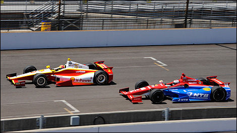 IndyCar Indy 500 Helio Castroneves Graham Rahal