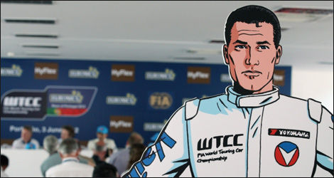 Michel Vaillant, le héros de bande-dessinée (Photo: FIA WTCC.com)
