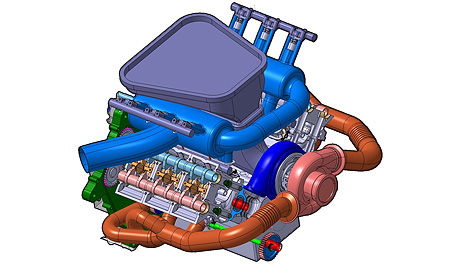 PURE F1 engine V6 turbo