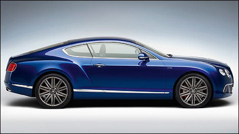Bentley Continental GT Speed vue côté