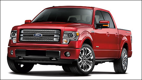 Ford F-150 Limited 2013 vue 3/4 avant