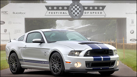 Ford Mustang Shelby GT500 à Goodwood