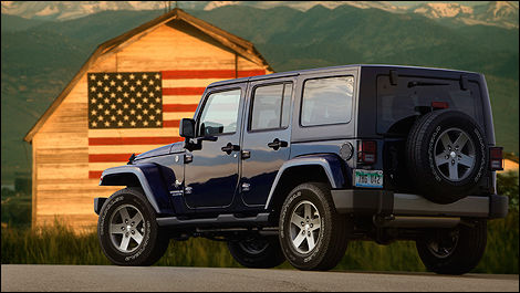Jeep Wrangler Freedom 2012 vue 3/4 arrière