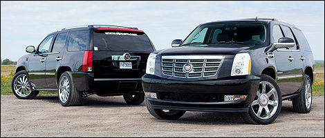 essai comparatif cadillac escalade hybride 2012 vs cadillac escalade slp sport edition. Black Bedroom Furniture Sets. Home Design Ideas