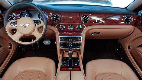 Bentley Mulsanne 2012 habitacle