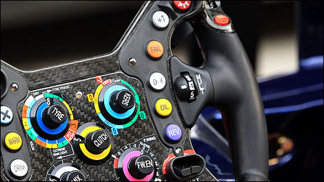 F1 Red Bull RB8 Sebastian Vettel steering wheel