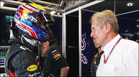 F1 Red Bull Mark Webber Helmut Marko