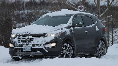 Hyundai santa fe snow driving