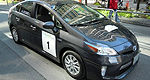 Rally-winning Toyota Prius PHV on display in Toronto