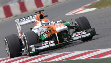 F1 Adrian Sutil Barcelona Sahara Force India VJM06