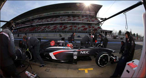 Nico Hulkenberg, Sauber C32 (Photo: WRi2)